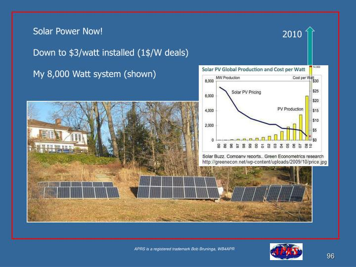 Solar Power Now!