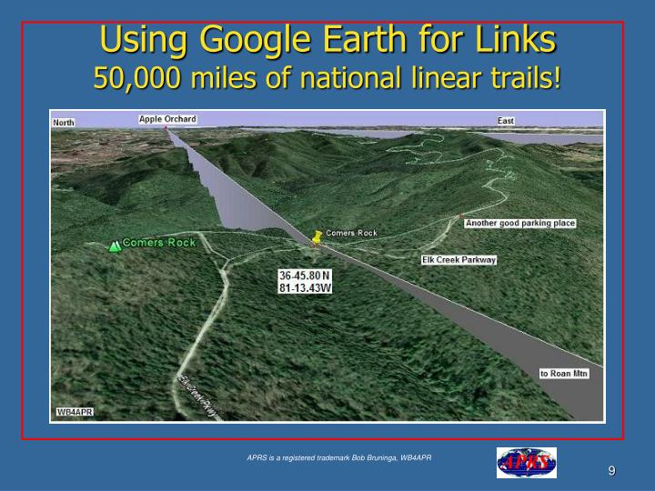 Using Google Earth for Links