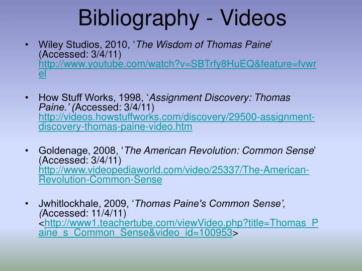Bibliography - Videos