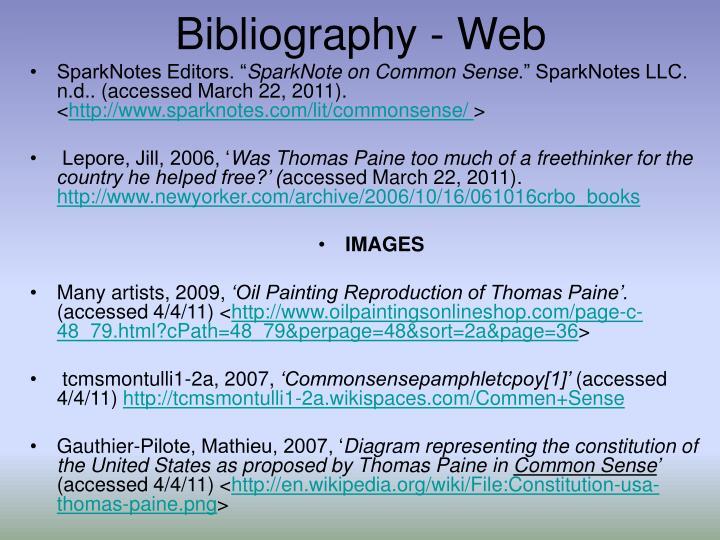 Bibliography - Web