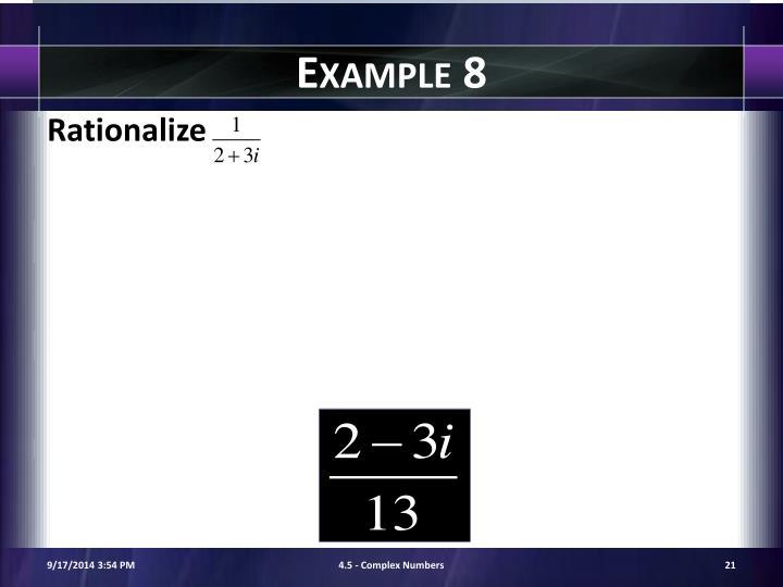 Example 8
