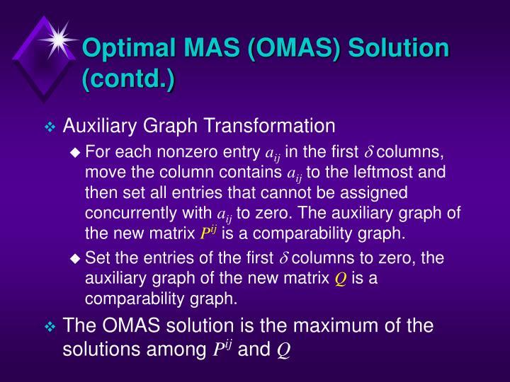 Optimal MAS (OMAS) Solution (contd.)