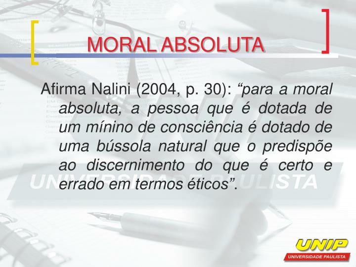 MORAL ABSOLUTA
