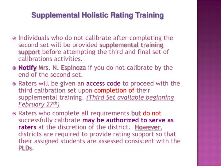 Individuals who do not calibrate after completing the second set will be provided