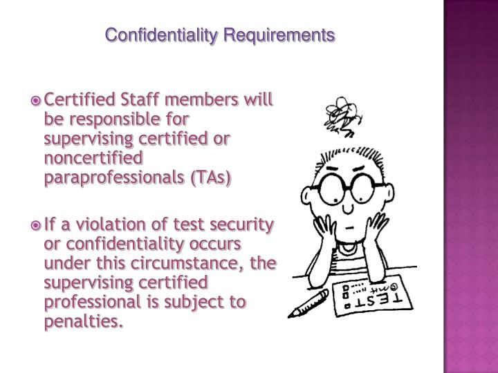 Certified Staff members will be responsible for supervising certified or noncertified paraprofessionals (TAs)