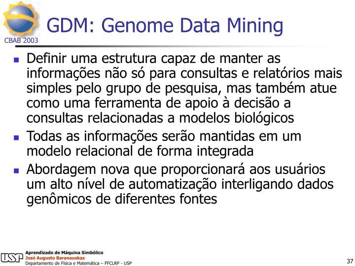GDM: Genome Data Mining