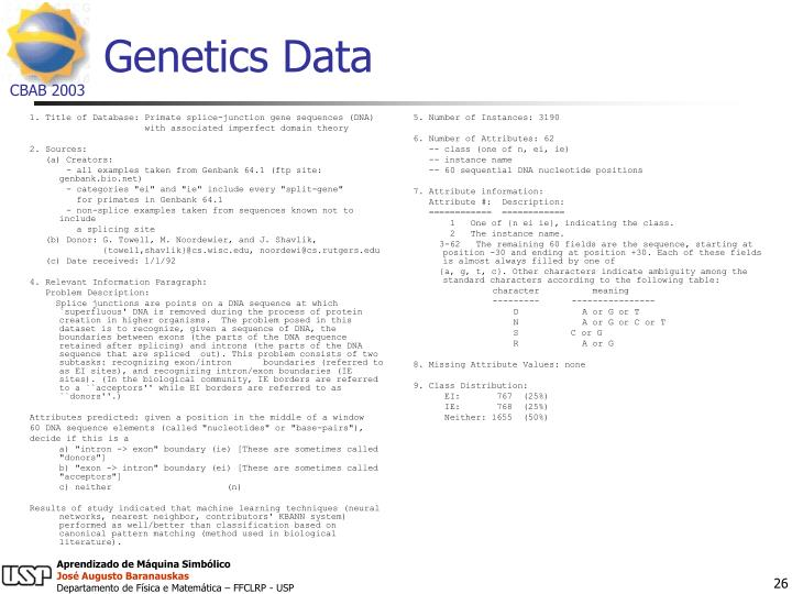 1. Title of Database: Primate splice-junction gene sequences (DNA)