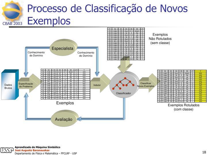 Processo de Classificação de Novos Exemplos
