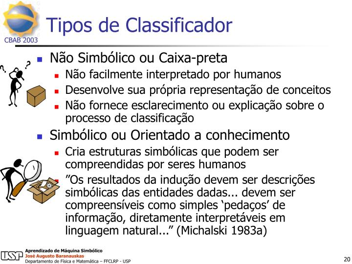 Tipos de Classificador