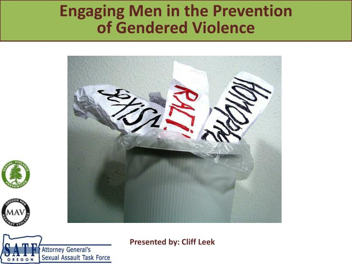 Engaging Men in the Prevention