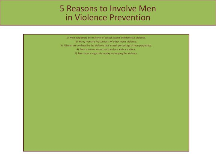 5 Reasons to Involve Men
