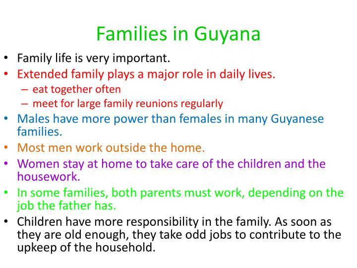 Families in Guyana