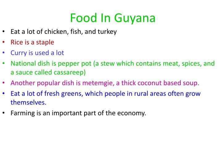 Food In Guyana