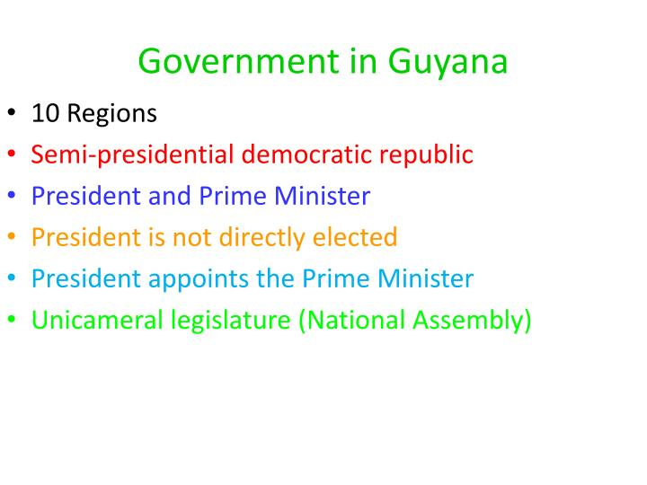 Government in Guyana