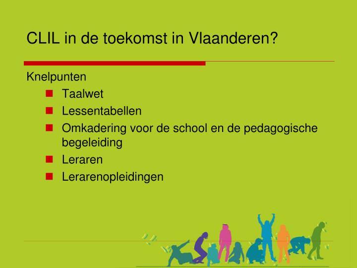 CLIL in de toekomst in Vlaanderen?
