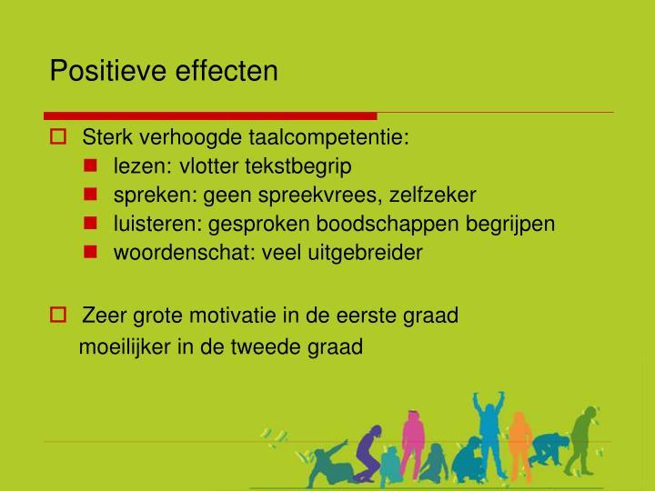 Positieve effecten