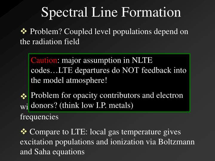 Spectral Line Formation