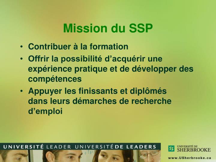 Mission du SSP