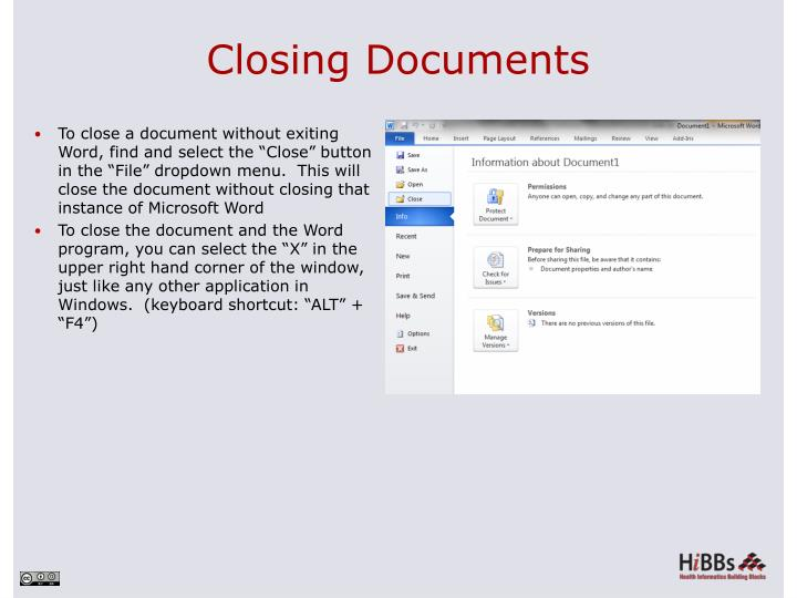 Closing Documents
