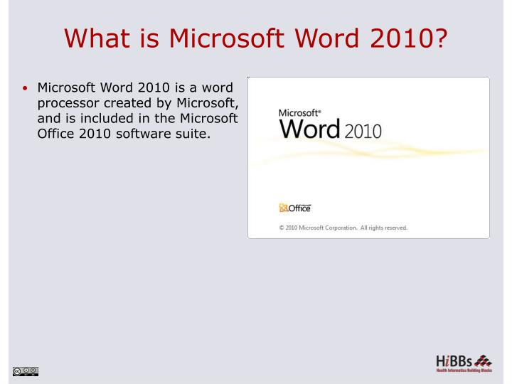 What is microsoft word 2010