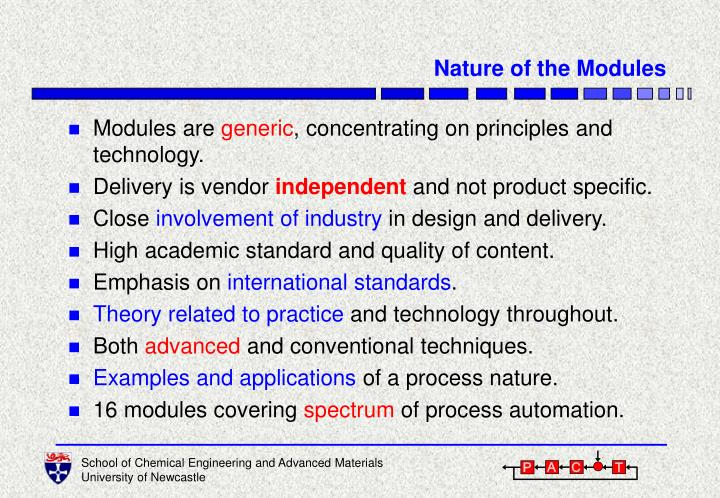 Nature of the Modules