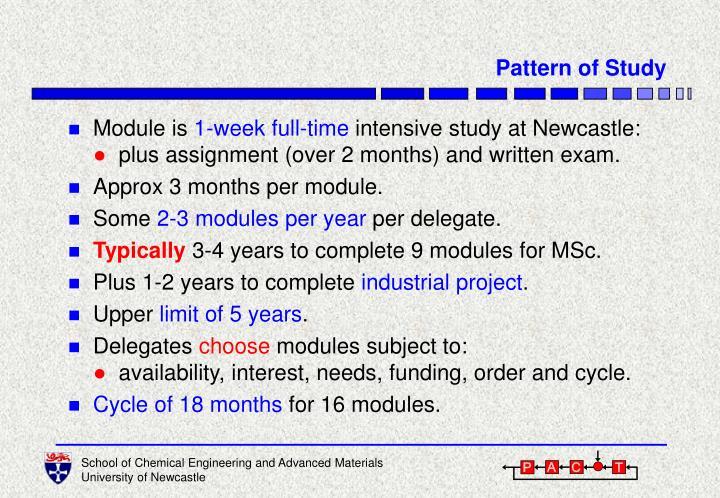 Pattern of Study