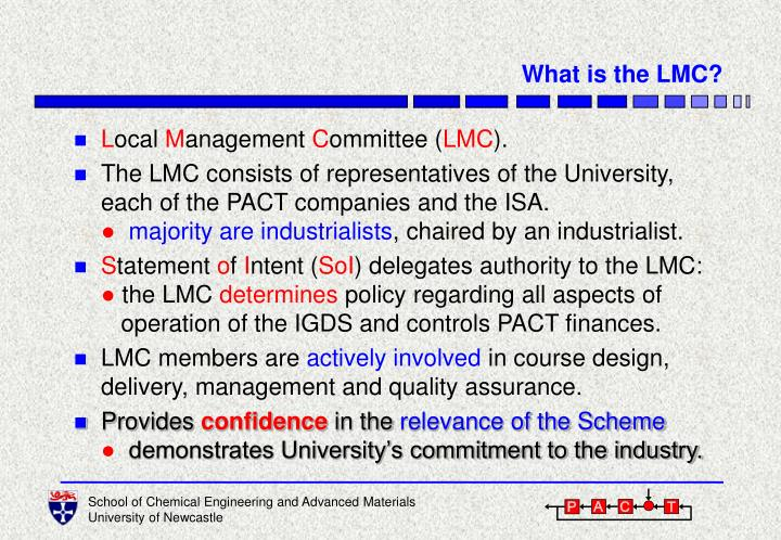 What is the LMC?