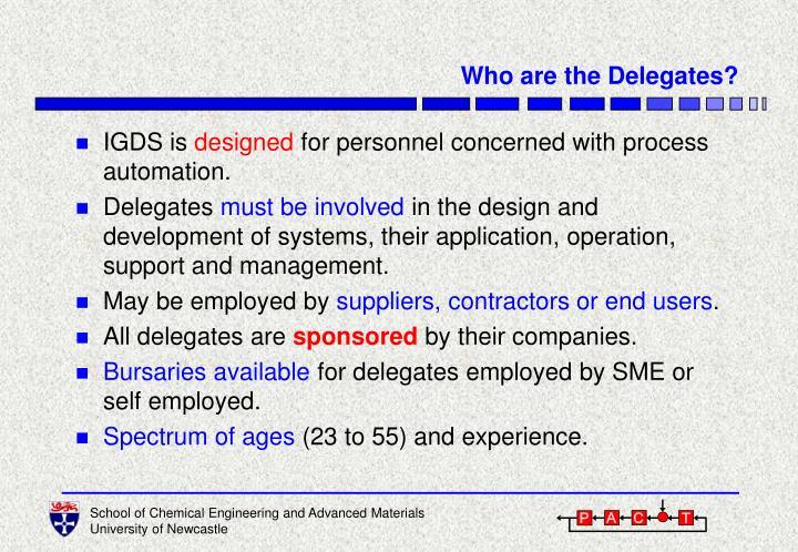 Who are the Delegates?