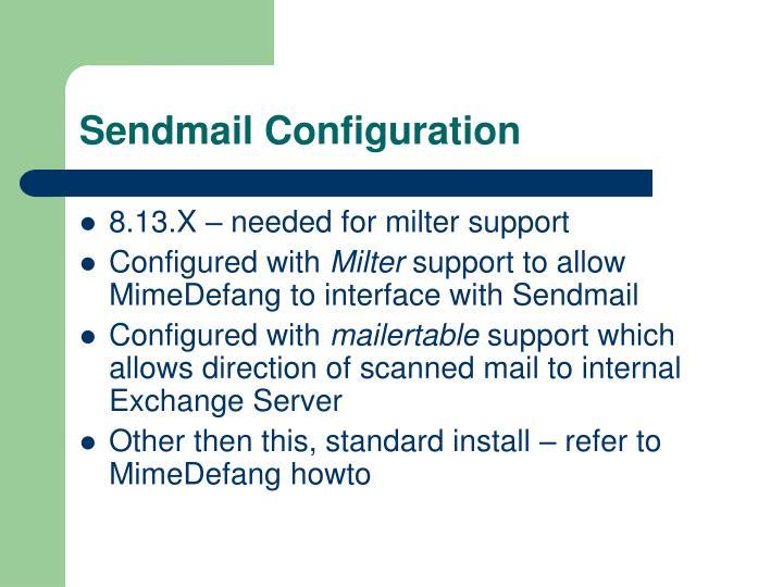 Sendmail Configuration