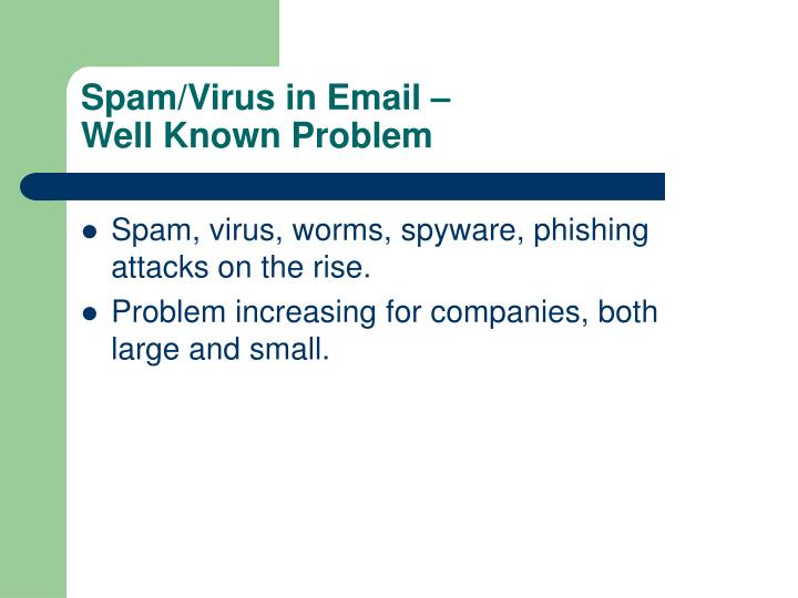 Spam/Virus in Email –