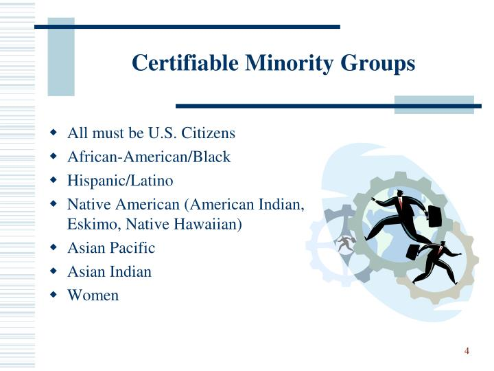 Certifiable Minority Groups