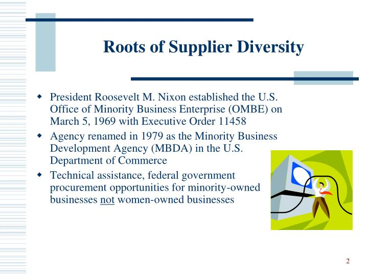 Roots of supplier diversity