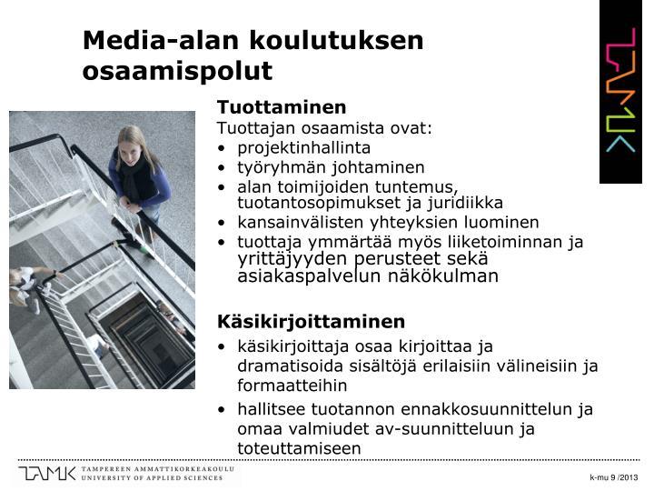 Media-alan koulutuksen osaamispolut