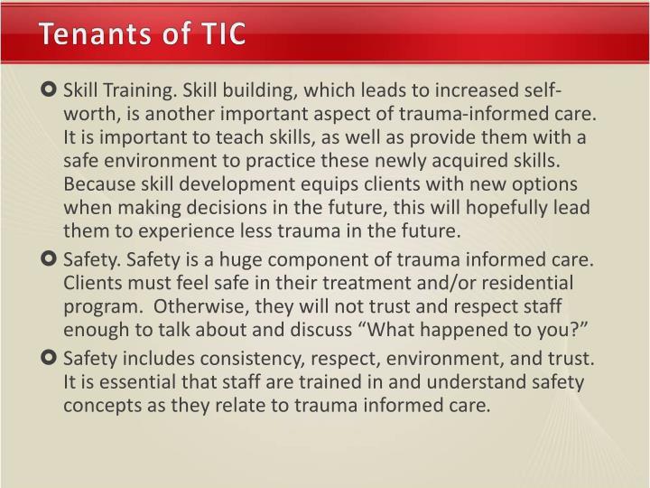 Tenants of TIC