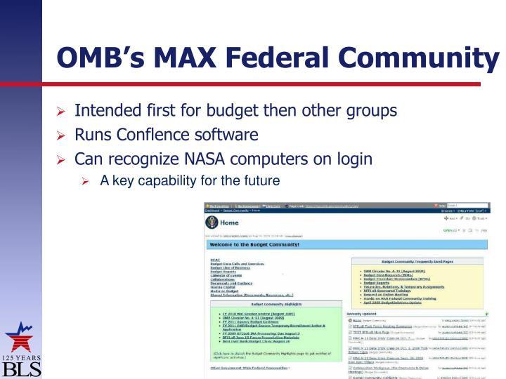 OMB's MAX Federal Community
