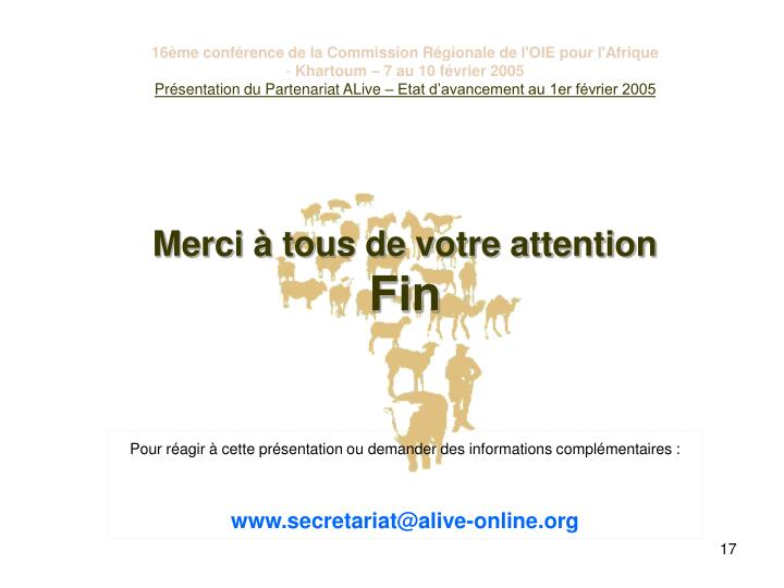 16ème conférence de la Commission Régionale de l'OIE pour l'Afrique