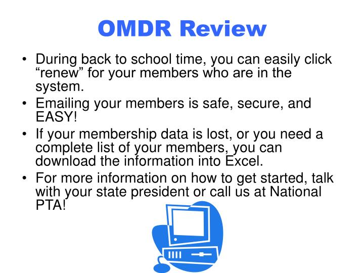 OMDR Review