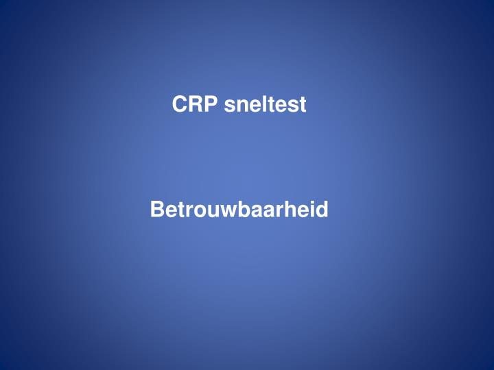 CRP sneltest