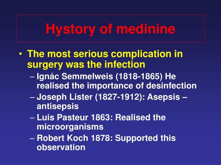 Hystory of medinine