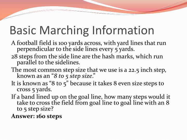 Basic Marching Information