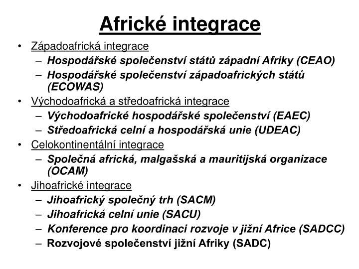 Africké integrace