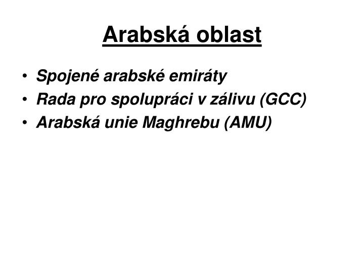 Arabská oblast