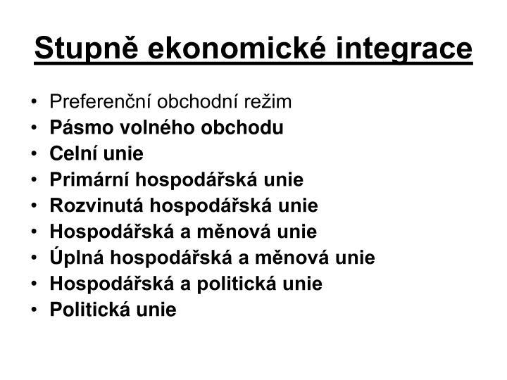 Stupně ekonomické integrace