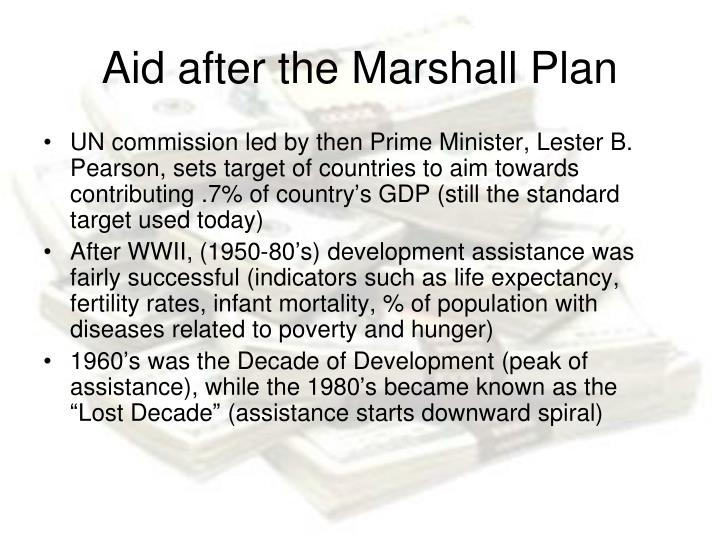 Aid after the Marshall Plan