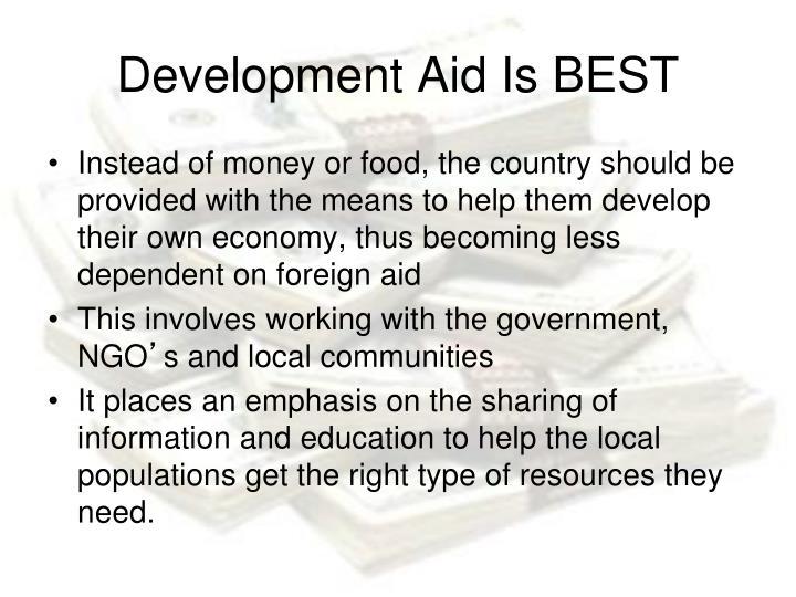 Development Aid Is BEST