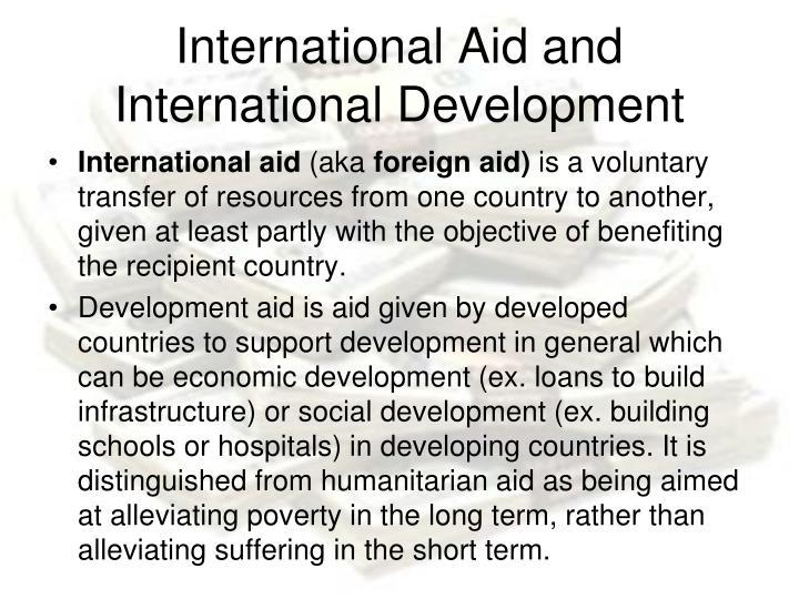 International Aid and International Development