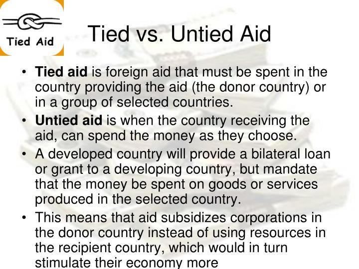 Tied vs. Untied Aid