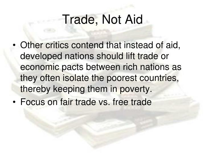 Trade, Not Aid