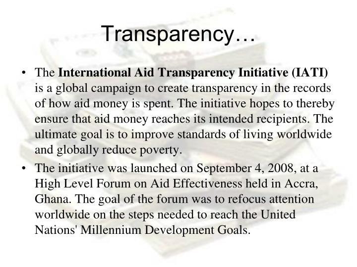 Transparency…