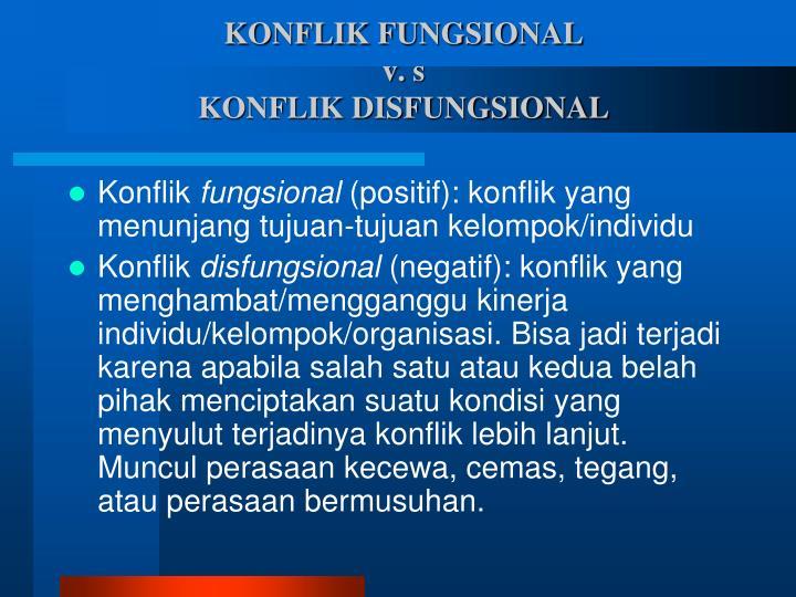 KONFLIK FUNGSIONAL